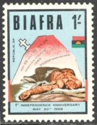 Postage stamps and postal history of Biafra - A 1968 stamp of Biafra.
