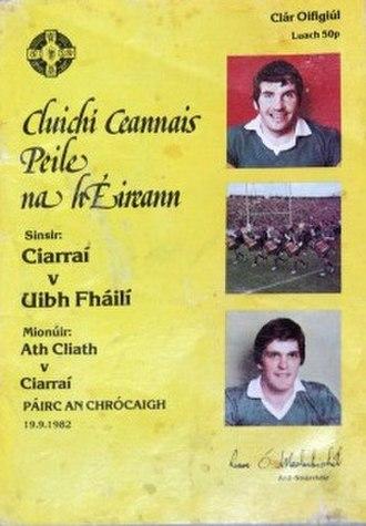 1982 All-Ireland Senior Football Championship Final - Image: 1982 All Ireland Senior Football Championship Final prog