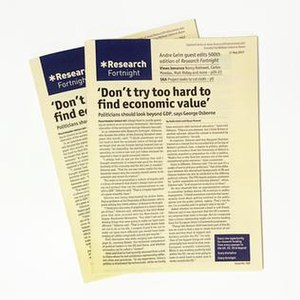 Research Fortnight - 500th issue of Research Fortnight