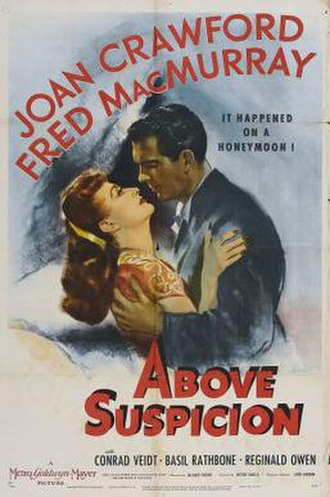 Above Suspicion (1943 film) - 1943 US Theatrical Poster