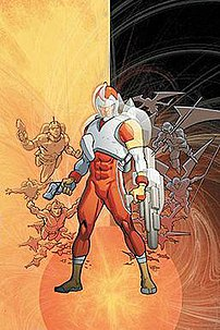 Artwork for the cover of Adam Strange #8 (2004...