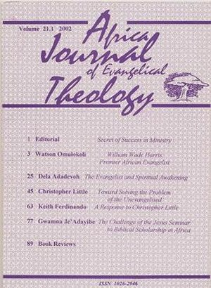 Africa Journal of Evangelical Theology - Image: Africa Journal of Evangelical Theology