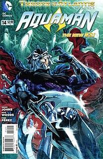 Throne of Atlantis comic book narrative story arc created by DC Comics