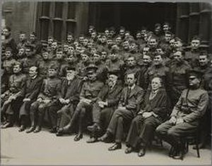 William Ashley (economic historian) - Ashley in group photograph with other uniformed men and Birmingham University officials – he is the fourth man from the right