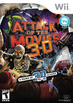 Attack of the Movies 3D - Cover art for the Wii version