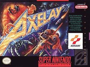 Axelay - North American SNES box art