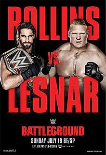 Battleground (2015) 2015 WWE pay-per-view and WWE Network event
