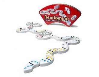 Bendomino - The Bendomino box and pieces