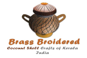 "Brass broidered coconut shell craft of Kerala - Logo of ""Brass broidered coconut shell craft of Kerala"" as in Geographical Indications Registry"