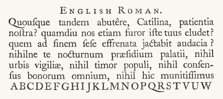 Caslon english roman sample