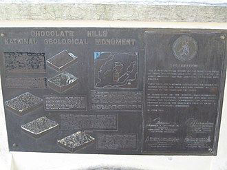 Chocolate Hills - Bronze Plaque at Chocolate Hills Complex View Deck