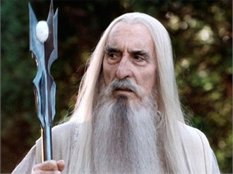 Saruman - Christopher Lee plays Saruman in The Lord of the Rings and The Hobbit