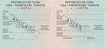 Visa Policy Of Cuba Wikipedia