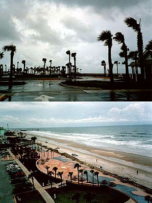 Hurricane Gabrielle (2001) - Daytona Beach during Gabrielle