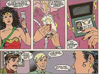 Diana Prince - Diana creates the persona Diane Prince. Art by Jill Thompson.