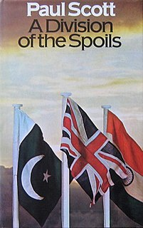 <i>A Division of the Spoils</i> 1975 book by Paul Scott