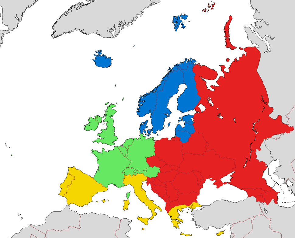 European sub-regions (according to EuroVoc, the thesaurus of the EU)