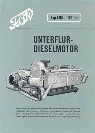 Franz Brozincevic Wetzikon - 1959 FBW model EDU underfloor diesel engine