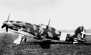 Fiat G.55 - The second prototype G.55, MM 492, in Regia Aeronautica markings