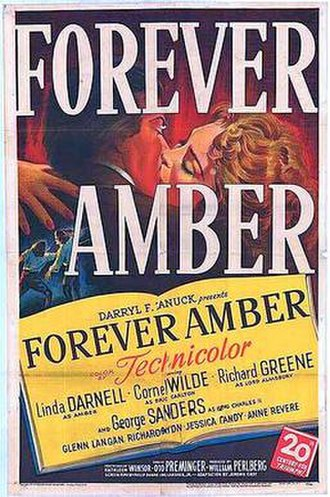 Forever Amber (film) - Theatrical release poster