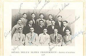 Phi Sigma Alpha - Sigma founders and two of the first members to join
