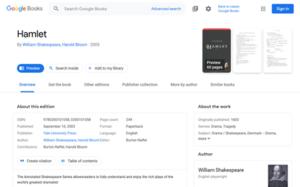 Google Books - Image: Google books screenshot
