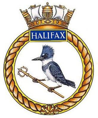 HMCS Halifax (FFH 330) - Image: HMCS Halifax crest