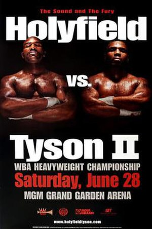 Poster publicizing the 28 June, 1997,  Holyfield-Tyson II fight, dubbed The Sound and The Fury.