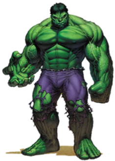 Hulk Superhero appearing in Marvel Comics publications and related media