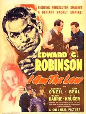 I Am the Law (1938 film) - 1938 Theatrical Poster