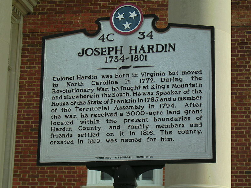 File:Joseph Hardin Courthouse Plaque Savannah TN.JPG