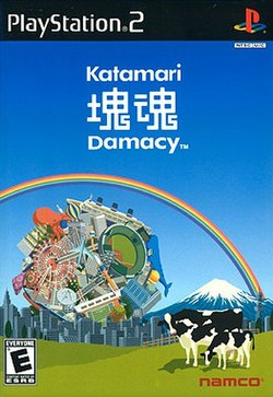 Cover of the video game Katamari Damacy