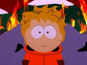 Kenny McCormick - Kenny's entire face was revealed for the first time in South Park: Bigger, Longer & Uncut.