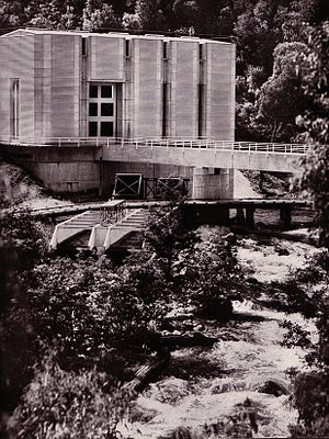Kiewa Hydroelectric Scheme - Exterior of Clover Power Station (Number 3)