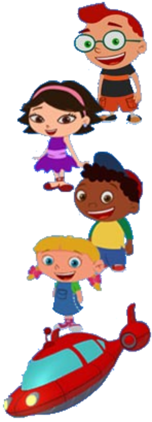 Little Einsteins - (From top to bottom) Leo, June, Quincy, Annie, Rocket