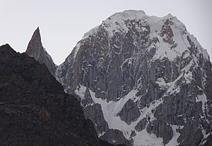 Ultar - Close-up of Bublimotin Ladyfinger and Hunza Peak