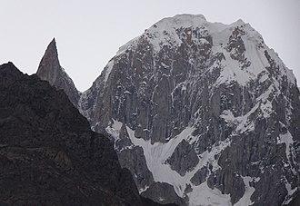 Ultar - Close-up of Bublimotin Ladyfinger and Hunza Peak