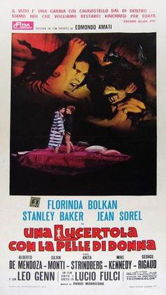 A Lizard in a Woman's Skin - Italian film poster