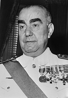 Spanish admiral and politician
