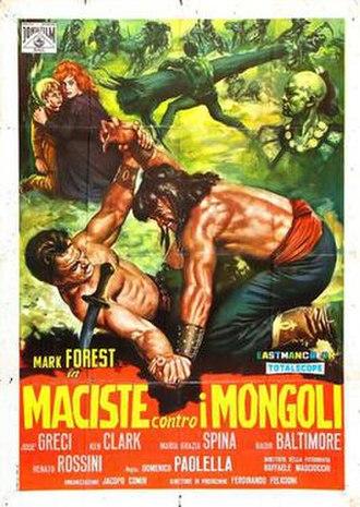 Hercules Against the Mongols - Image: Maciste contro i mongoli italian movie poster md