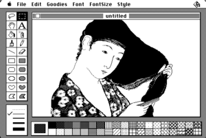 Digital painting - MacPaint 1.0