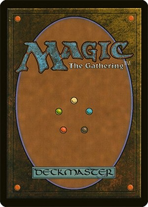 Magic: The Gathering - Image: Magic the gathering card back