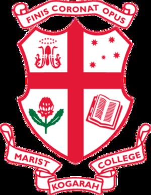 Marist College Kogarah - Marist College Kogarah crest. Source: (Marist College website)