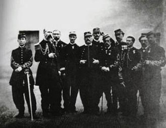 François Achille Bazaine - Bazaine and his staff officers including Colonel Willette and his nephews Capt Adolphe Bazaine-Hayter and Lt George Bazaine-Hayter in 1870