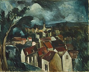 Maurice de Vlaminck - Maurice de Vlaminck, c.1912, Village, oil on canvas, 73.7 x 92.1 cm (29 x 36 1/4 in.), Art Institute of Chicago