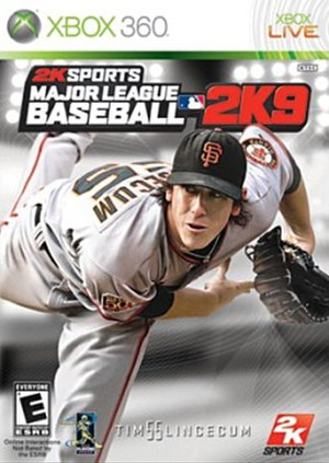 Major League Baseball 2K9 - Tim Lincecum, cover athlete