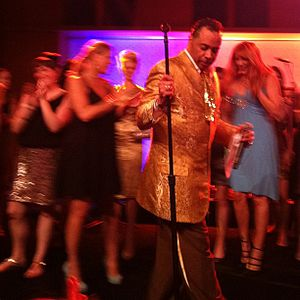 Morris Day - Morris Day and fans onstage in 2013
