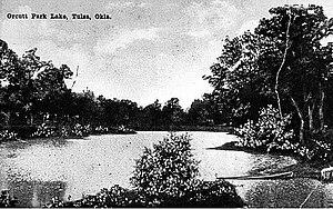 Swan Lake, Tulsa - Orcutt Lake as it looked in 1904