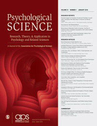 Psychological Science - Image: Psychological Science cover