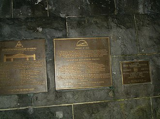 Remagen - Remagen commemorative plaque.